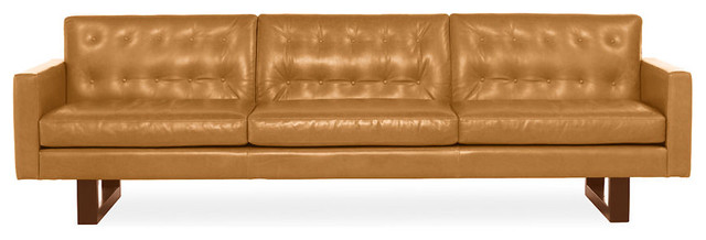 Wells Leather Sofa Eclectic Sofas Other Metro By Room Amp Board