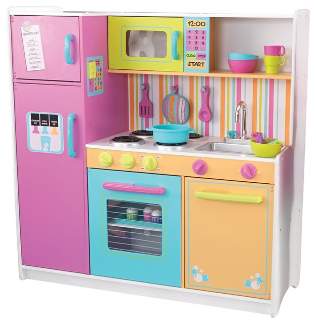 big and bright kids fun cooking wooden kitchen contemporary kids
