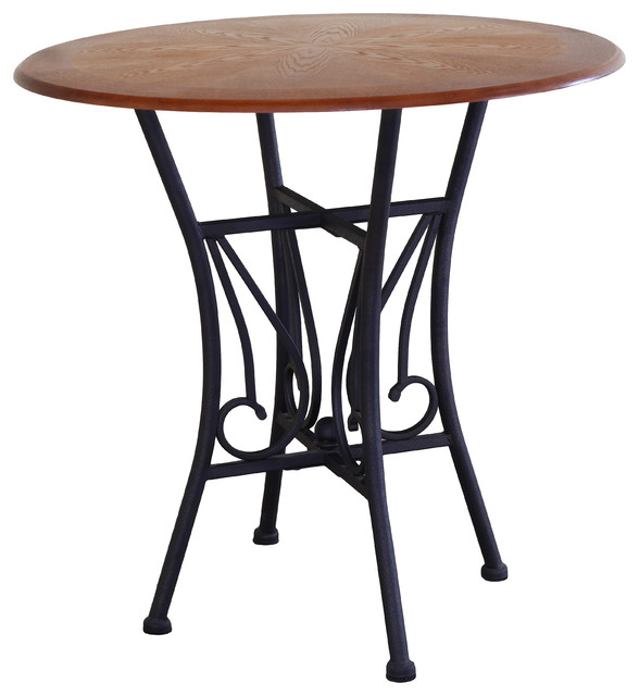 Counter Height Metal Table : Metal and Stone Counter Height Table - Armchairs And Accent Chairs ...