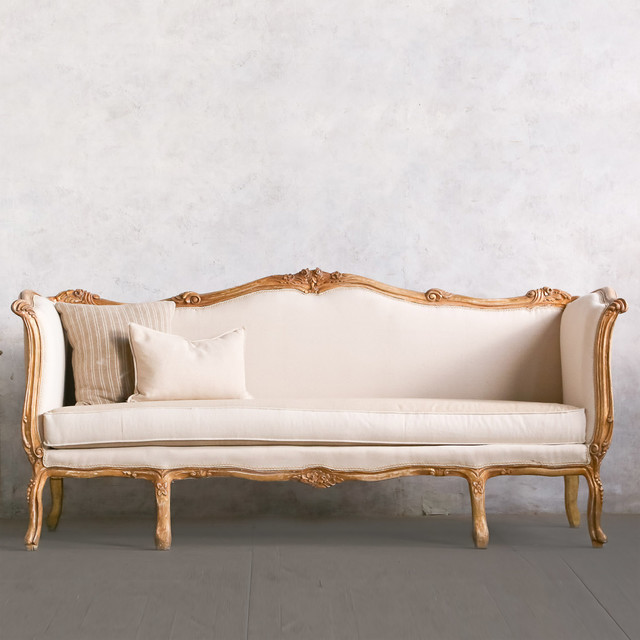 Eloquence one of a kind vintage daybed louis xv shimmering for One of a kind beds