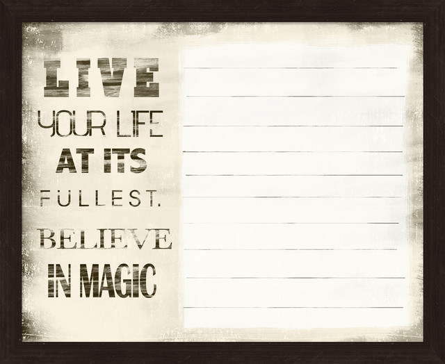 """Live Your Life"" Memo Board - Eclectic - Bulletin Boards ..."