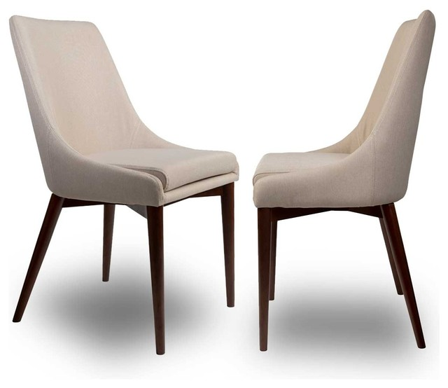 lot de 2 chaises tissu juju couleur beige moderne chaise de salle mange. Black Bedroom Furniture Sets. Home Design Ideas