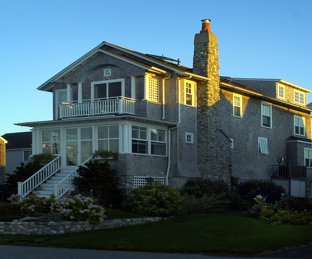 New england ocean front designs for Ocean front home designs