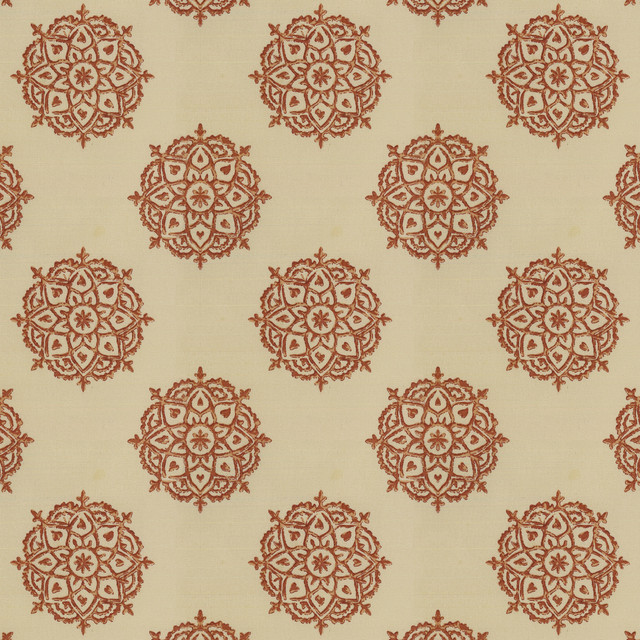 Multi Medallionaire Ginger Fabric New York By Loom Decor