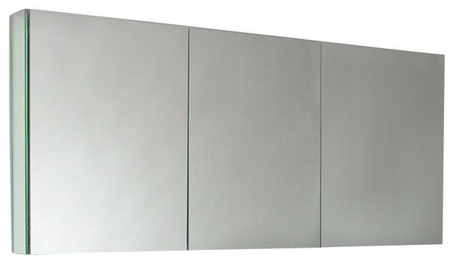 Three Mirrored Door Medicine Cabinet - Contemporary - Medicine Cabinets - by Unique Vanities