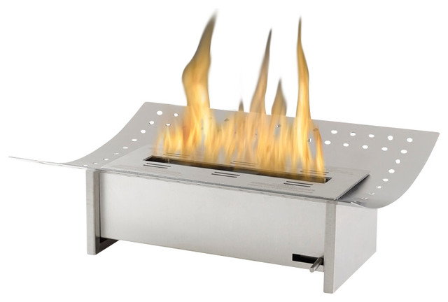 Insert Ventless Ethanol Fireplace Grate Stainless Steel