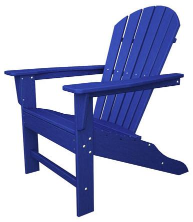 South Beach Adirondack Pacific Blue Chair Modern Outdoor Lounge Chairs