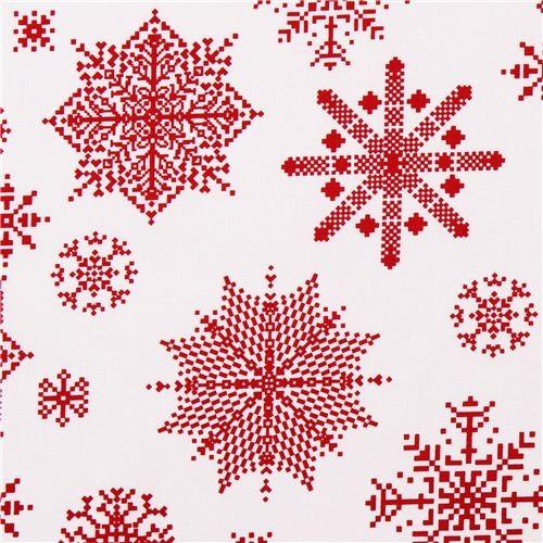 White Norwegian Snow Christmas Fabric Winter Essentials Ii