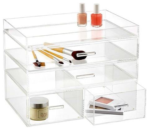 ... Acrylic Cosmetic/Makeup Organizer contemporary-bathroom-organizers