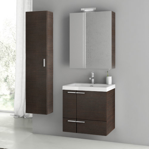 23 inch wenge bathroom vanity set contemporary