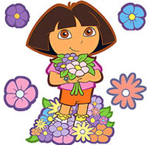 Dora best friends 6 large wall accent murals stickers for Dora wall mural