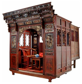 antique carved canopy bed with alcove asian canopy beds milwaukee by silk