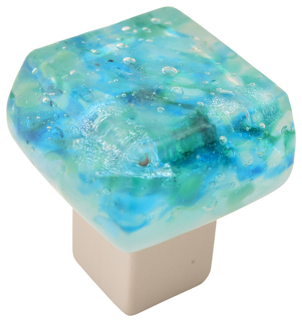 ... -Caribbean Mist Cabinet Knob transitional-cabinet-and-drawer-knobs