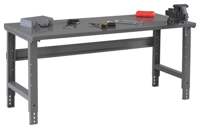 "Steel Top Workbench With Adjustable Legs, 60""x30"" - Industrial - Garage And Tool Storage - by ..."