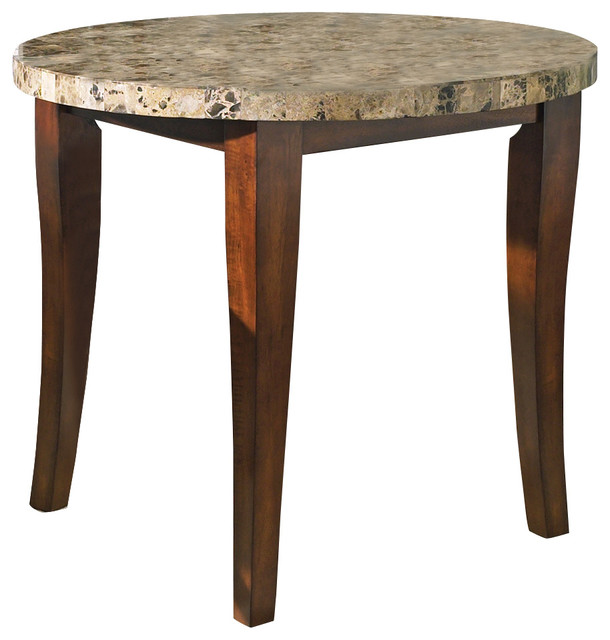 Round Counter Top: Montibello Round Marble Top Counter Height Table In Cherry