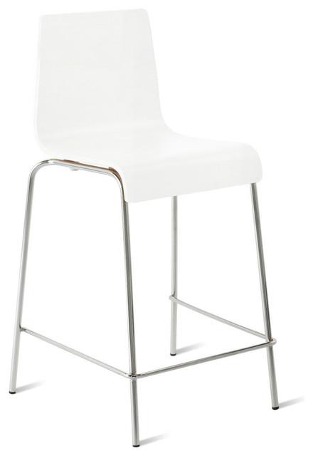 blu dot counterstool counterstool white moderne chaise et tabouret de bar par blu dot. Black Bedroom Furniture Sets. Home Design Ideas