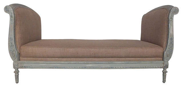 19th c french painted daybed contemporary chaise for Chaise longue tours
