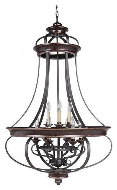 Traditional Foyer Chandeliers : Jeremiah lighting agtb stafford foyer chandelier