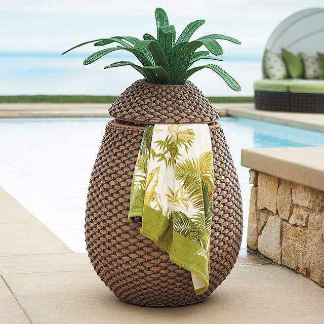 Pineapple Towel Hamper Contemporary Outdoor Decor By