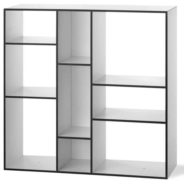 kubus regal wei schwarz authentics modern bookcases by found4you. Black Bedroom Furniture Sets. Home Design Ideas