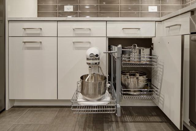 Modern Monochromatic Kitchen  Wheaton, IL  Contemporary  chicago