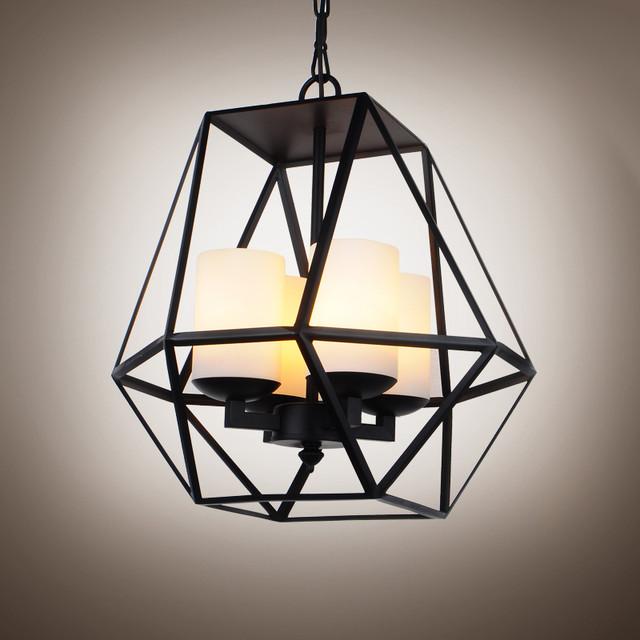 16 1 2 wide wrought iron pendant light contemporary. Black Bedroom Furniture Sets. Home Design Ideas