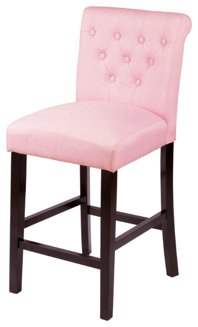 Sopri Counter Chairs Set Of 2 Coral Pink Transitional