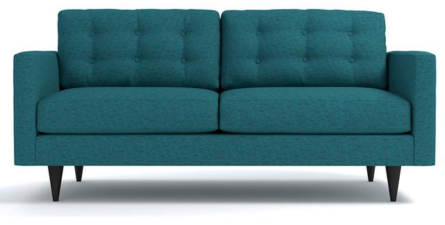 Logan Apartment Size Sofa Chicago Blue Modern Sofas