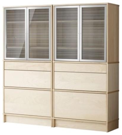 Effektiv storage combination w glass doors scandinavian for Ikea accent cabinet