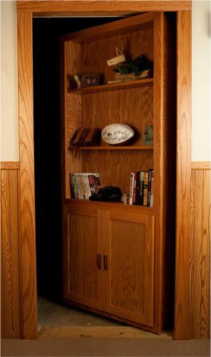 InvisiDoor Hidden Door Bookcase - Interior Doors - by Custom Service Hardware, Inc
