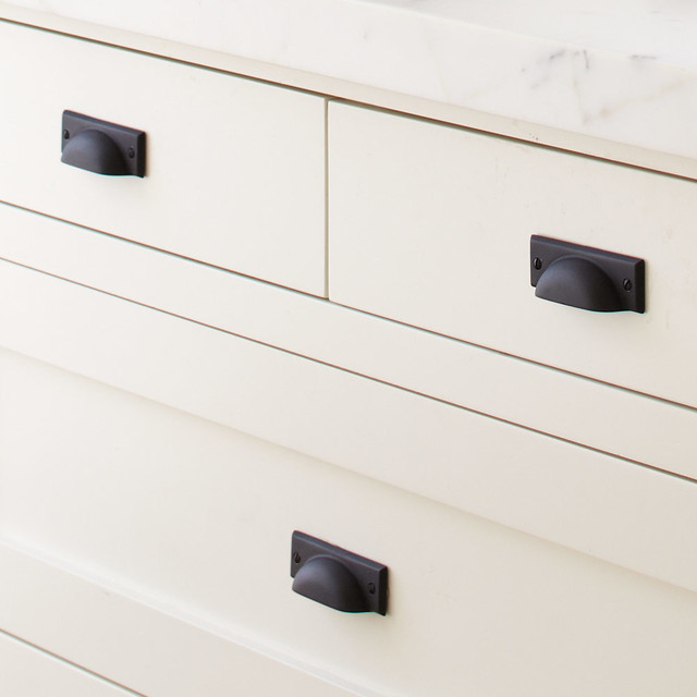 Bevel-Edge Bin Pull - Contemporary - Cabinet And Drawer Handle Pulls - other metro - by Rejuvenation