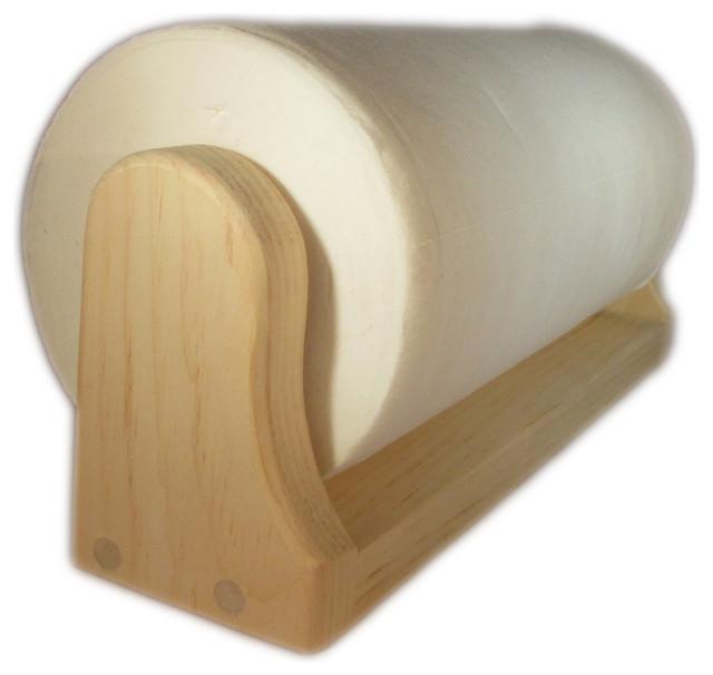 Under Shelf Kitchen Roll Holder: Pine Paper Towel Holder (Mounted) (Unfinished