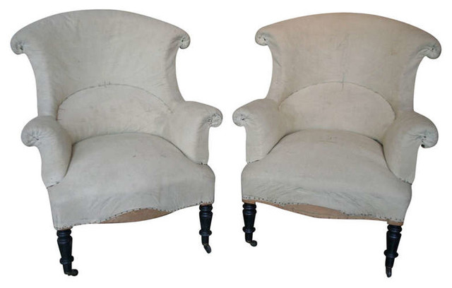 19th century pair of scrolled back napoleon iii armchairs victorien fauteuil new york. Black Bedroom Furniture Sets. Home Design Ideas