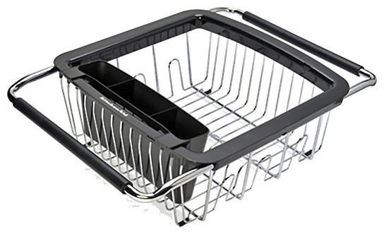 kitchenaid black 3 in 1 dish rack contemporary dish racks by. Black Bedroom Furniture Sets. Home Design Ideas
