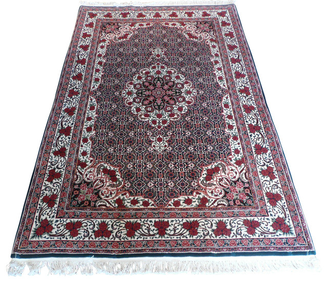 6x9 bijar rug traditional area rugs for Living room rugs 6x9