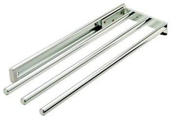 Pull Out Towel Rack 3 Bar Extendable Polished Chrome Contemporary Drying Racks By