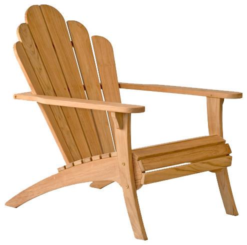 Bainbridge collection teak adirondack chair contemporary for Teak adirondack chairs design