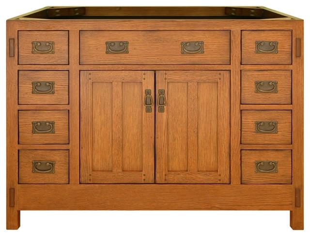 American Craftsman Vanity Rustic Oak Rustic Bathroom Vanities And Sink C