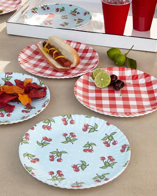 Melamine u0027Paperu0027 Plates Set of 4 - Contemporaneous - Dinner Plates - by . & Melamine Paper Plates. Picnique Reusable Paper Plate - 9