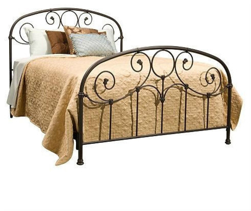 king size metal bed with headboard and footboard rusty gold finish headboards by group line. Black Bedroom Furniture Sets. Home Design Ideas