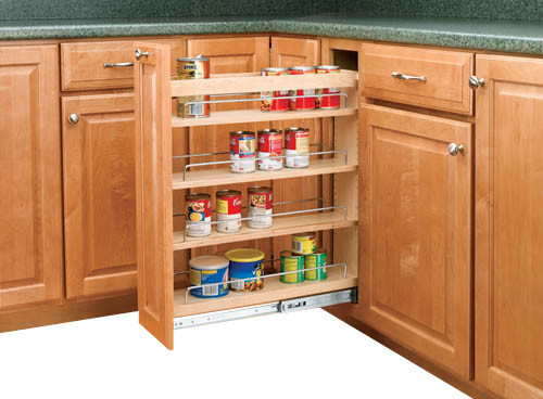 Rev a shelf 448 bc 5c 5 pullout base cabinet organizer w for Adjustable shelves for kitchen cabinets