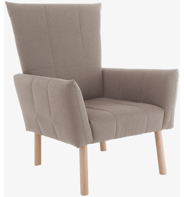 Marni Natural Fabric Armchair HabitatUK Modern Armchairs Accent C