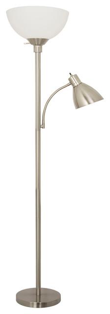 Home design 150 watt floor lamp with side reading light for 150 watt floor lamp