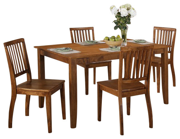 Steve Silver Company Candice 5 Piece Rectangular Dining Table Set Farmhouse