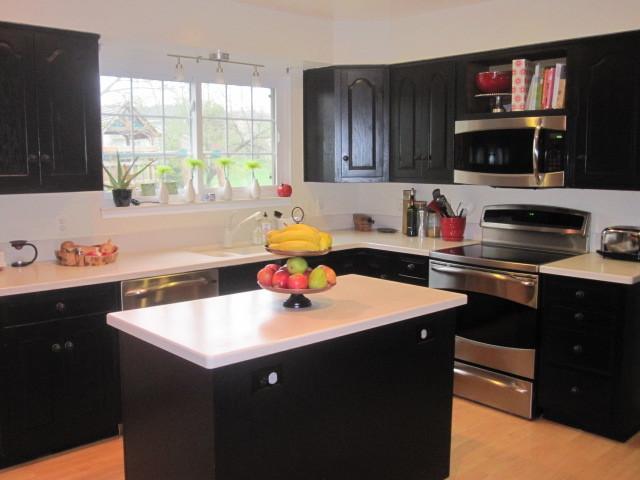 Black & White Kitchen Update - Traditional - Kitchen - detroit