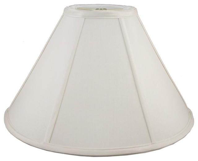 Round coolie lampshade in cream 10 in diam x in h for Abat jour contemporain