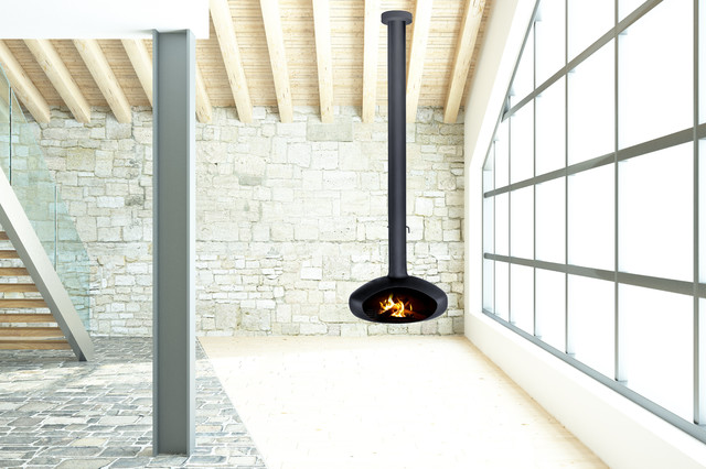Aurora Wood Fires Contemporary Indoor Fireplaces Other Metro By Aurora Suspended Wood Fires
