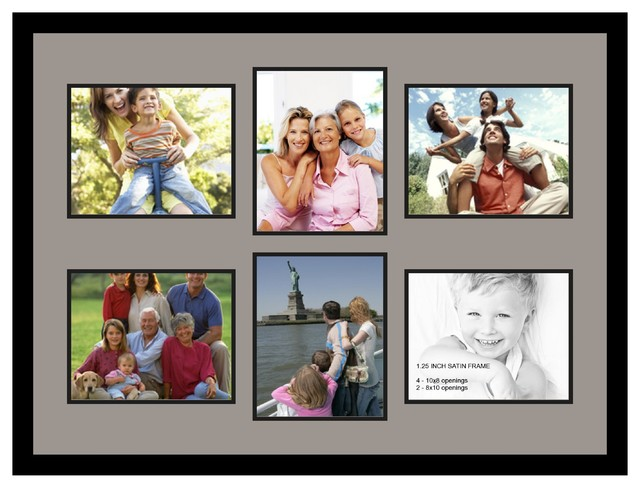 Arttoframes collage photo frame with 6 8x10 openings for Modern collage frame