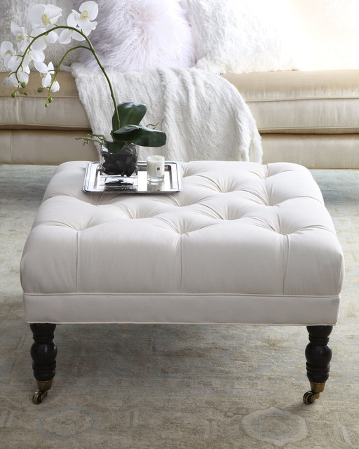 Ottoman Coffee Table Tray Uk: Ellsworth Square Tufted Ottoman
