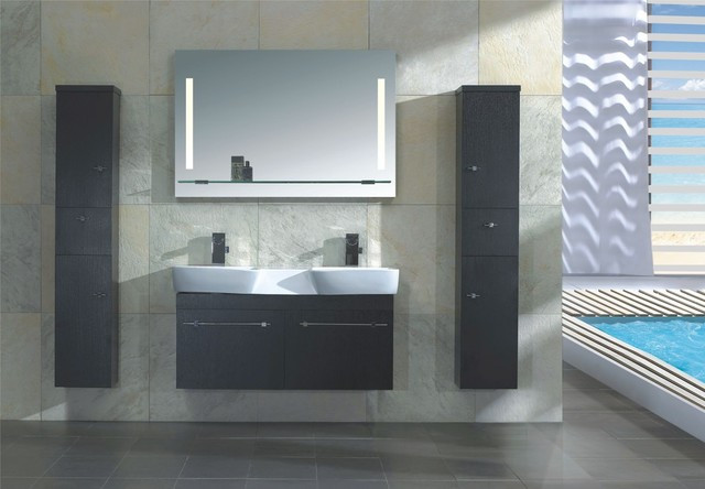 Napoli Modern Double Sink Bathroom Vanity Set Modern Bathroom